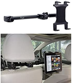 Premium Car Headrest Tablet Mount Backseat Holder Stand {Multi Passenger} Works With All Tablets - Apple iPad PRO Air Mini Samsung Tab A E S4 w/Anti-Vibration Swivel Cradle (7-15 inch displays)