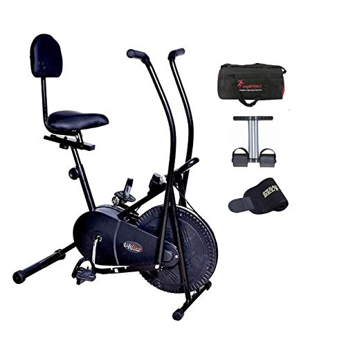 Lifeline Exercise Air Bike with Back Seat | Bundles with the Bag,...