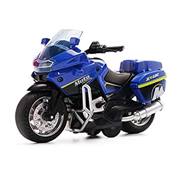 Die-Casting Motorcycle Toys - with Light and Music Toys Motorcycle Model,Toy Gifts On Christmas Eve Motorcycle Toy for Boys(Blue