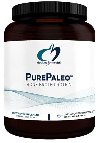 Designs for Health PurePaleo Collagen Protein Powder - 26g HydroBEEF Bone Broth Protein Supplement with Collagen Peptides + BCAAs - Unflavored, Non-GMO, Dairy-Free + Gluten-Free (30 Servings / 810g)