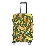 Funda para equipaje de viaje con diseño de conejo de Pascua, de varios tamaños, ideal para la mayoría de maletas, White (Blanco) - STELULI-XLXT-24