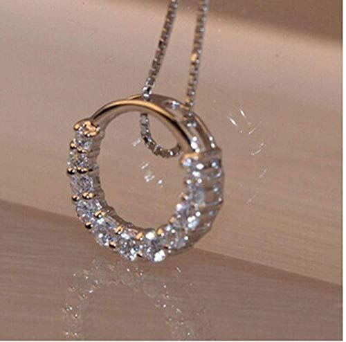 NC110 Circón de Cristal de circonita Brillante Collares Pendientes de Mujer Regalo de joyería YUAHJIGE