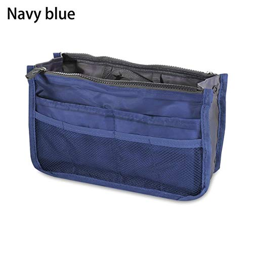 IONE Portable Cosmetic Bag Travel Multifunctional Storage Bag Beauty Bag Bathroom Cosmetic Bag Cosmetic Storage Bag, Navy Blue