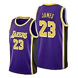 Z/A Los Angeles Lakers Lebron James # 23 Ropa de Baloncesto Jersey Men's Sportswear Entrenamiento Deportivo Sudadera Suelta Chaleco de Manga Corta Top Camiseta,XXL