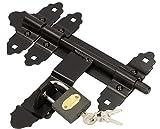 kotarbau® scrocco per chiavistello 200 mm (7,87 pollici) con lucchetto lucchetto per porta lucchetto a barilotto capannone capanno pollaio pollaio rivestito a polvere