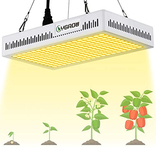 YGROW 600W LED Grow Light Full Spectrum,Update Light Plant Bulbs Growing Light Bulb for Indoor Plants Veg and Flower with Heatproof Casing 3500K Father
