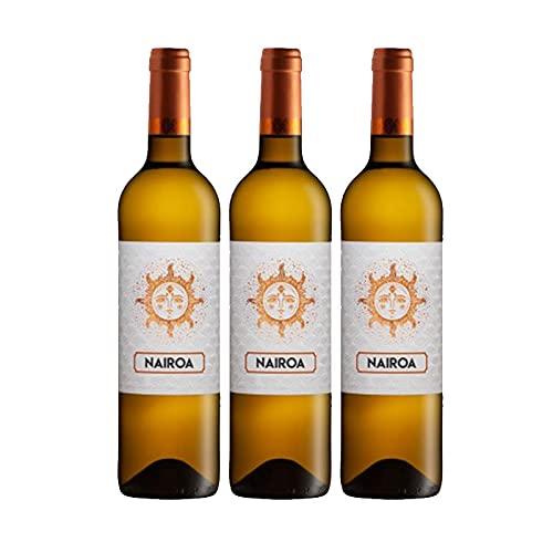 Vino blanco Nairoa de 75 cl - D.O. Ribeiro - Bodegas Nairoa (Pack de 3 botellas)