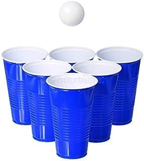 PRIMART.RETAIL SET OF 10 Beer Pong Glass| Blue Drinking Cup | Drinking glass for party |Party Glasses| RE-USABLE BEER PONG...