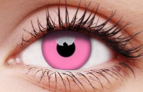 Halloween Kontaktlinse Lustige Linse UV Glow Pink Jährliche Einweg 14 mm stärke 0.00 von ColourVUE