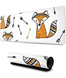 90x40cmx0.3cm-Gaming Mouse Pad Cute Fox Hunting Arrow Extended Large Mouse Mat Durable Nonlip Rubber Base Water-Resistant Mousepad Animal Motif Mouse Pad Scenery Mouse Pad Nonlip Mouse Pad DDD3926-Ot