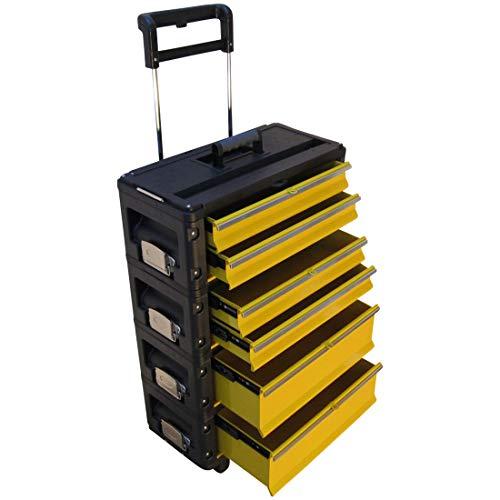 ASS Profi - Caja de herramientas con ruedas (metal, tamaño XL)