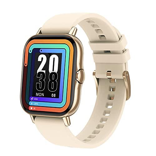 DT94 - Reloj inteligente para hombre y mujer, con Bluetooth, 1,78 pulgadas, pantalla IP67, resistente al agua, para Xiaomi Huawei (dorado)