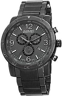 ساعة بمينا رمادي وسوار معدني للرجال من اوغست شتاينر- - AS8097GN