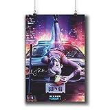 Pentagonwork Birds of Prey DC Comics Movie Poster Casts Autographed Reprint 8.3x11.7 A4 Prints w/Stickers 2020 Film, Margot Robbie Signed, 1243-106