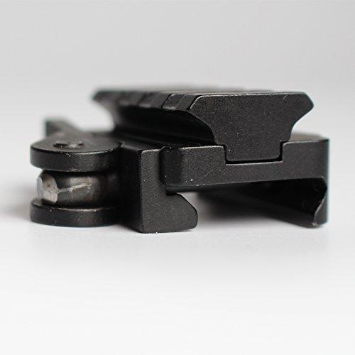 QD Adaptador de Montaje de liberación rápida 4 Ranuras Riser Ámbito Montajes Montura Apto 20mm Picatinny Weaver Base de Carril Accesorios de Caza