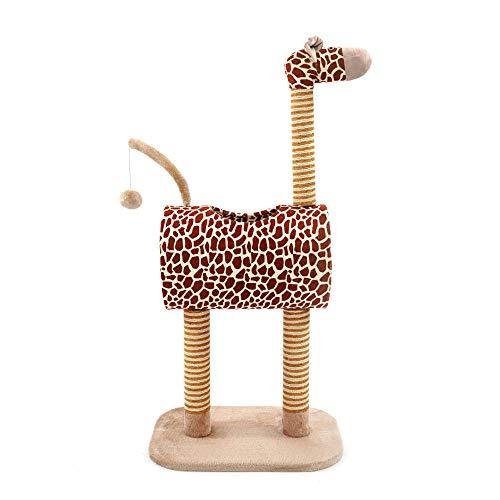 tiragraffi,cuccia gatto,tiragraffi gatto Tiragraffi in stile giraffa Tessuto super morbido Tunnel body Grande lucernario rotondo Collo in corda di sisal Macina i tuoi artigli ogni volta che vuoi.