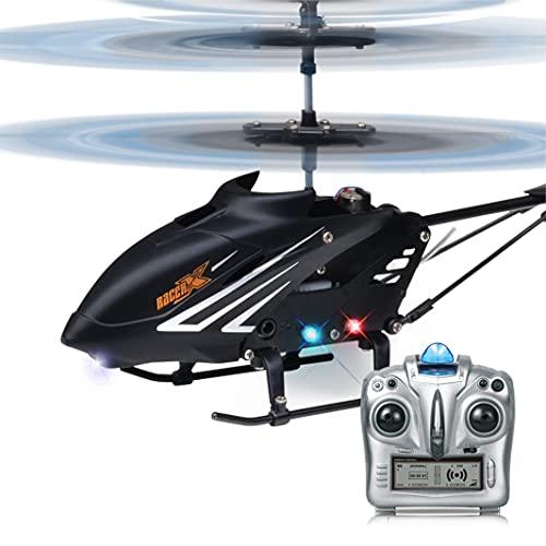 PP PICADOR RC Helikopter Höhenhalt, 2,4 GHz Ferngesteuerter Hubschrauber mit Gyro und LED-Licht, 3,5 Kanal Fernbedienung Drohnen Spielzeug Geschenk für Erwachsene und Kinder (schwarz)