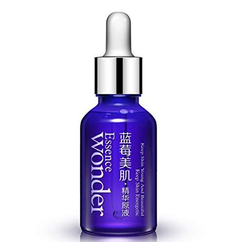 Sérum Blueberry Acide Hyaluronique Anti rides Anti Aging Collagène Pure Essence Hydratante Soins de la peau Sérum quotidien Réparation liquide (15ml) Articles personnels