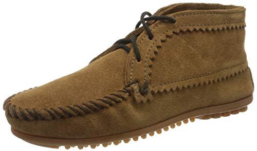 Minnetonka Suede Ankle Boot, Damen Kurzschaft Mokassin Boots, Braun (Dusty Brown), 38 EU (7 US)