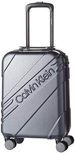 Calvin Klein Cheer Hardside Spinner Luggage with TSA Lock, Grey, 28 Inch