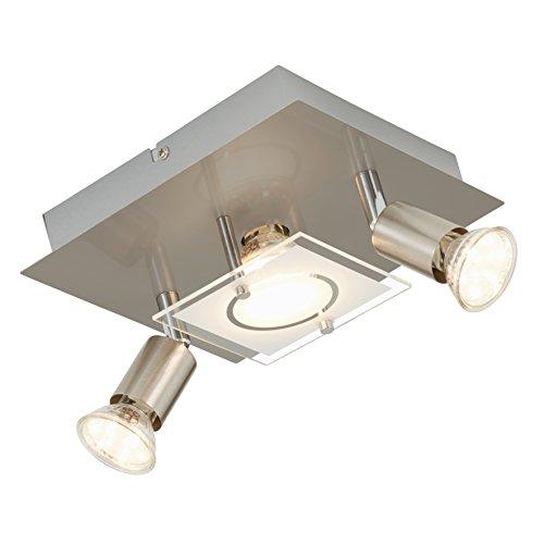 Briloner Leuchten Deckenleuchte, LED Lampe, Deckenlampe, LED Strahler, Spots, Wohnzimmerlampe, Deckenstrahler, Deckenleuchte Wohnzimmer, Deckenspot, Deckenbeleuchtung
