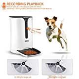 Pet-U Automatic Pet Feeder, Smart Food Dispenser for Dogs and Cats with Auto Portion Control and 10 Seconds Voice Record, Timer Programmable Up to 4 Meals a Day