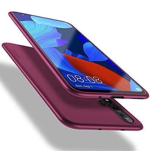 X-level Huawei nova 5T Hülle, Honor 20 Hülle, [Guardian Serie] Soft Flex Silikon Premium TPU Echtes Handygefühl Handyhülle Schutzhülle für Huawei nova 5T/Honor 20 Hülle Cover - Weinrot