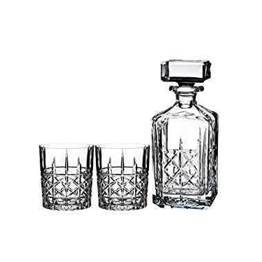 Marquis By Waterford BRADY DECANTER 32 OZ & DOF 11 OZ SET/2