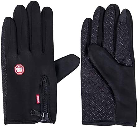 Touch Screen Windproof Outdoor Sport Gloves for Men Women Army guantes tacticos luva Winter Windstopper Waterproof Gloves - (Color: Black, Gloves Size: M)