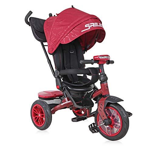 Lorelli Tricycle Speedy, Luftreifen, drehbarer Sitz, Musik, Licht, Schubstange, Farbe:schwarz/rot