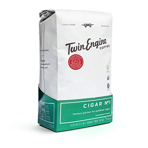 Twin Engine Coffee NICARAGUAN CIGAR BLEND #1 - Dark Roast, Whole Bean, Nicaraguan Coffee, 400g 14.1oz | Rich Specialty Grade Coffee packaged at the source | Nicaragua's Coffee