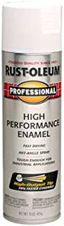 Rust-Oleum 239108 Professional High Performance Enamel Spray Paint, 15 oz, Semi-Gloss White