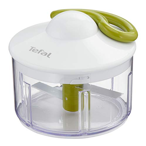 Tefal Hachoir Manuel 5 Secondes 500 ML, Blanc/Vert/Transparent, 0.5 liters
