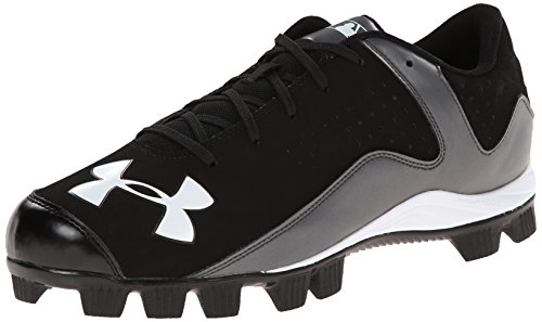 Mens Under Armour Leadoff Low RM Baseball Cleats Black/Charcoal Size 13 M US