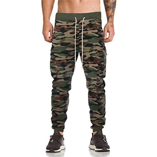 Herren Elastische Taille Gürtel Baumwolle Jogging Sweat Hosen Plus Size Mode Lange Sports Cargo Hosen Shorts mit Taschen Joggers Activewear Hosen