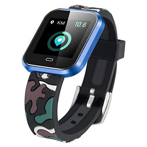 CD16 Smart Horloge Android Met Bloeddruk Hartslagmeter Stappenteller Stopwatch Sports Smartwatch Mannen Clock,Blue