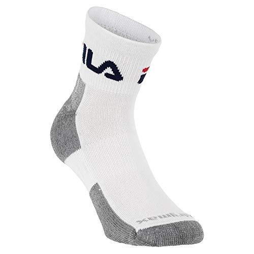 Fila Unisex 3-Pack Super Performance Drymax Quarter Length Sock (1/4 Crew) (Tennis White, Large)