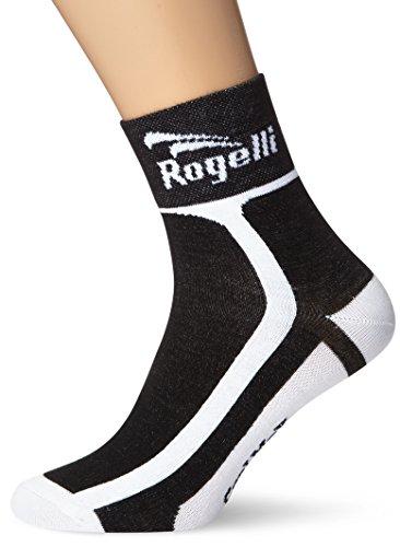Rogelli Hombre RCS Calcetines, Calcetines, Hombre, Color Negro/Blanco, tamaño Size 40-43