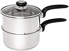 Wiltshire 42300 Classic Steamer Set Ø 18 cm, Induction Compatible cookware, Stainless Steel Cooking Pot with Handle with...