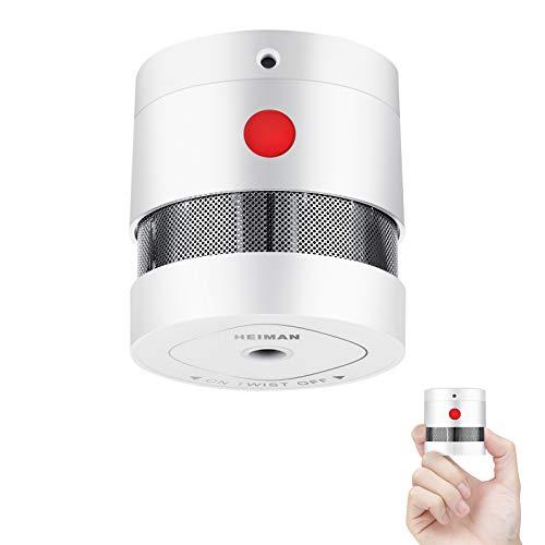 Heiman Mini Rauchmelder mit 10 Jahren Batterielaufzeit TÜV und EN14604 Zertifizierter Rauchwarnmelder mit Feueralarm und Fotoelektrischem Sensor (1er Set)