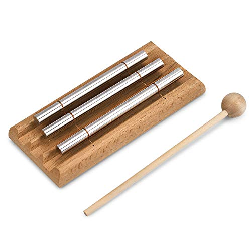 Meditation Trio Chime, EONLION Three Tone Solo Percussion Instrument for Prayer, Yoga, Eastern Energy Chime for Meditation and Classroom Use