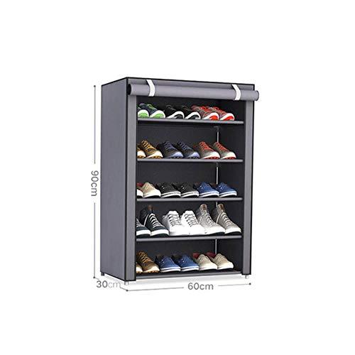 Tela no tejida Almacenamiento Zapatero Pasillo Gabinete Organizador Titular 4/5/6 Capas Ensamble Zapatos Estante DIY Casa re-30X60X90CM, China