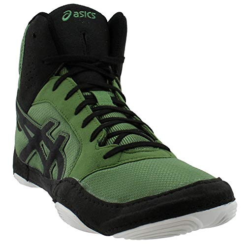 ASICS Men's Snapdown 2 Wrestling Shoe, Cedar Green/Black, Size 12