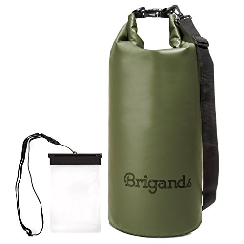 Brigands Waterproof Dry Bag with Phone Case, 20 Liter