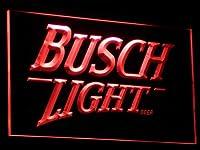 Busch Lite Beer Vintage Club Bar LED看板 ネオンサイン ライト 電飾 広告用標識 W60cm x H40cm レッド