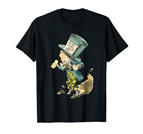 Alice in Wonderland Mad Hatter Vintage Illustration T-Shirt