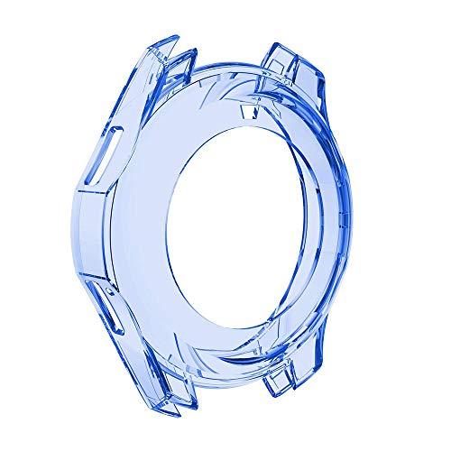 Snlaevx Schutzhülle für Samsung Gear S3 Frontier Smartwatch, Stylisches PC-Gehäuse, Ersatz-Schale, modisch, schmal, TPU, Schutz, Silikon-Rahmen, Bunte PC-Gehäuse-Schutzhülle, Schale (Blau)
