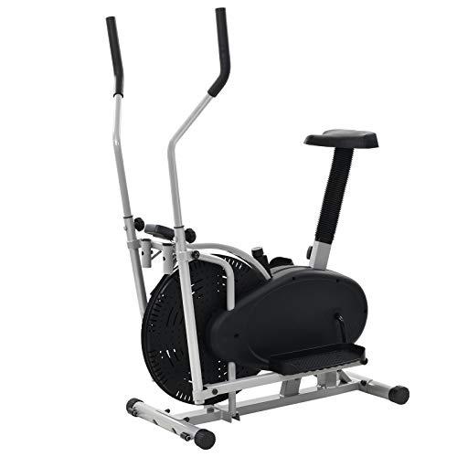 vidaXL Ellipsentrainer 2in1 Crosstrainer Heimtrainer Ergometer Cardio Fitness