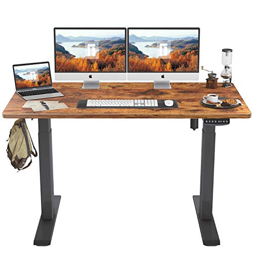 FEZIBO Height Adjustable Electric Standing Desk, 55 x 24 Inches Stand Up Table, Sit Stand Home...