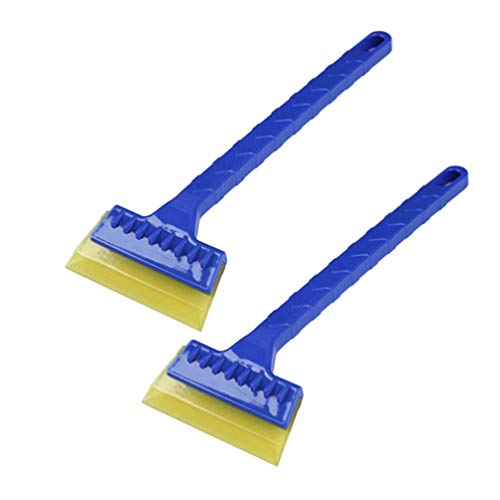 New VOSAREA 2pcs Snow Shovel Durable Screen Safe Rubber Blade Ice Cleaner Snow Scraper Clean Tools f...